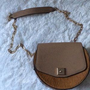 Zara Calf Hair Crossbody Bag